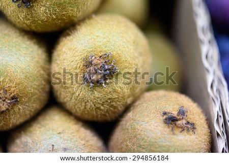 close up of Kiwi Fruit - stock photo