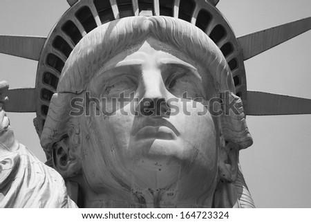 Close up of lady Liberty  - stock photo