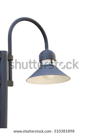 close up of lamppost isolated on white background (with clipping path)