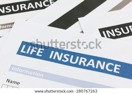 close up of life insurance form