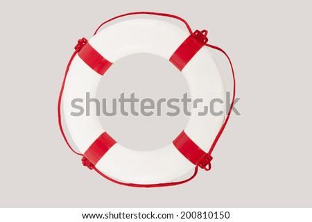 Close up of lifesaver against white background - stock photo