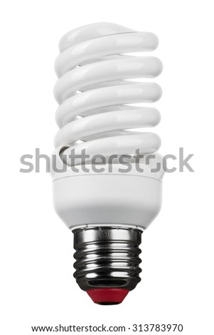close up of light bulb isolated on white background with clipping path - stock photo