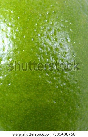 Close-Up of Lime Skin - stock photo