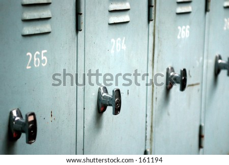 Close up of lockers