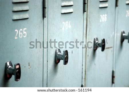 Close up of lockers - stock photo