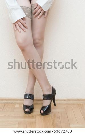 close-up of long legs shot - stock photo