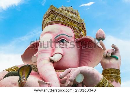Close up of Lord Ganesha : Lord of success. - stock photo