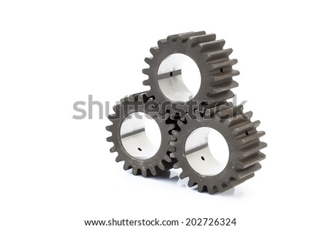 Close-up of Machine Gears
