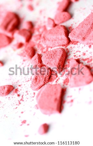 Close up of make up powder