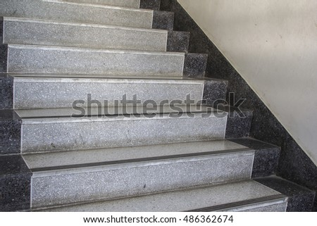 Perfect Close Up Of Marble Staircase.