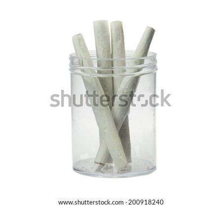 close up of marijuana cigarettes - stock photo