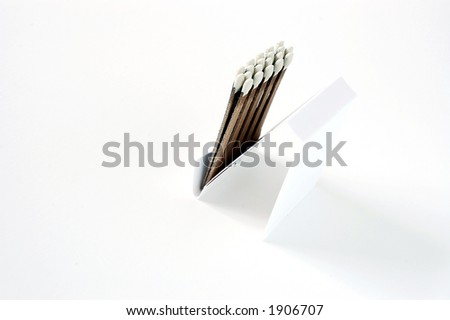 close-up of matches