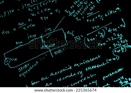 Close up of mathematical background