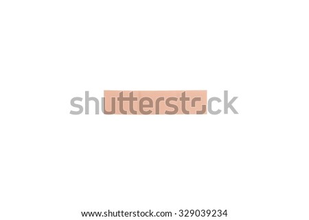 close up of medical patch isolated on white background - stock photo