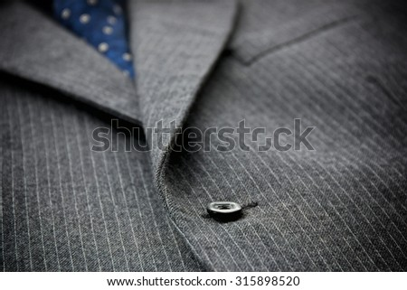 Close-up of men's woolen suit. - stock photo