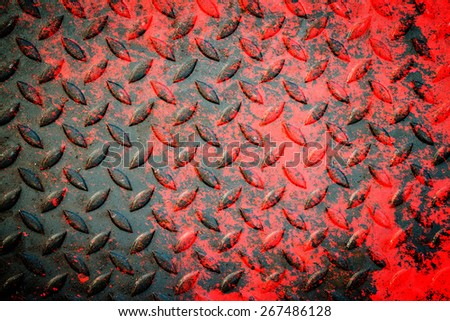 Close up of metal plate to prevent slipping,grunge - stock photo