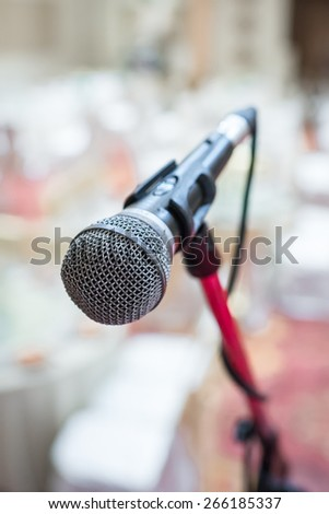 close up of microphone on an event