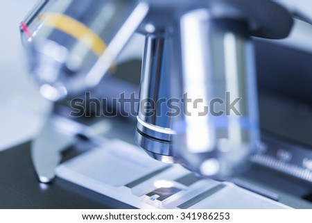 Close - up of Microscopes in Laboratory