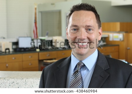 Close up of middle aged man smiling