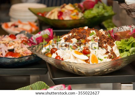 Close up of mixed  salad in a bowl