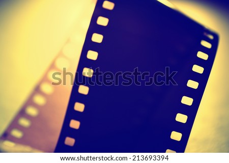 Close up of 35 mm movie Film - stock photo