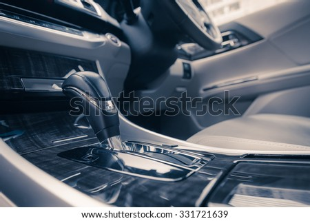 Close Modern Car Interior Color Tone Stock Photo Royalty Free