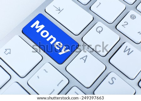 Close up of Money keyboard button