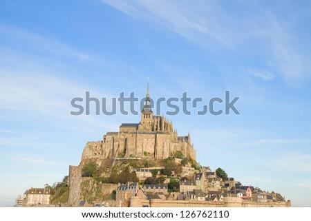 close up of Mont Saint Michel,  France - stock photo