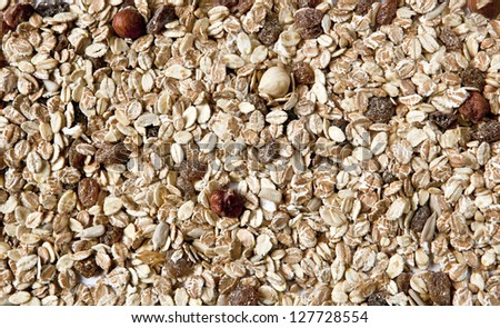 Close up of Muesli - stock photo