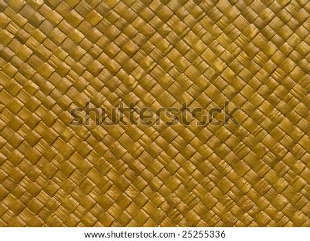 Close-up of natural woven mat - stock photo