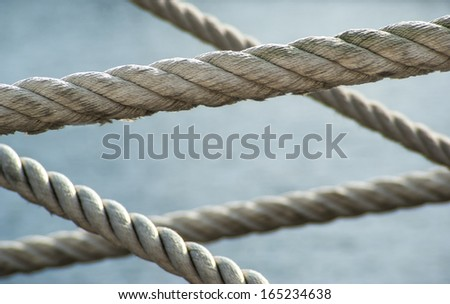 Close up of naval rope