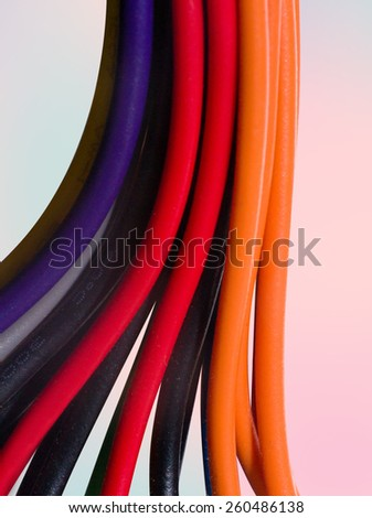 close up of network cables - stock photo