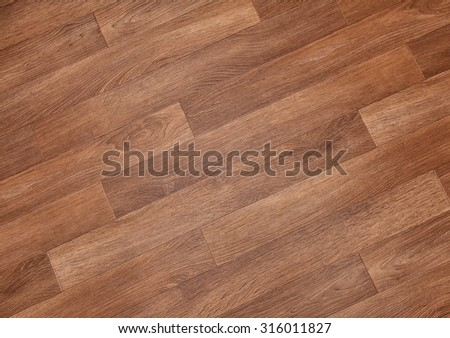 Close-up of new linoleum with parquet pattern, background