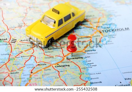 Close Linkoping Sweden Map Red Pin Stock Photo 255432505 Shutterstock
