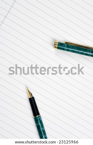 close up of notebook and pencil on white background with clipping path blank notebook sheet - stock photo