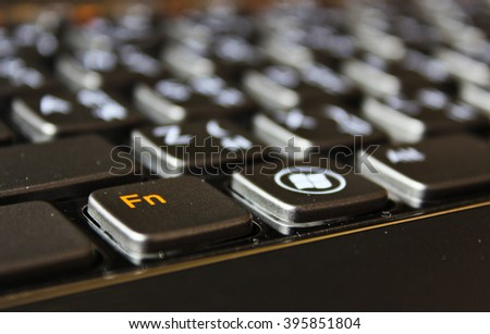 Close Up of Notebook Keyboard