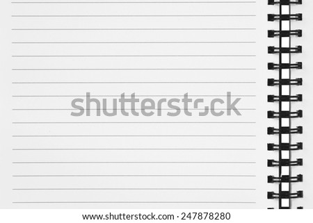 close up of notebook paper - stock photo