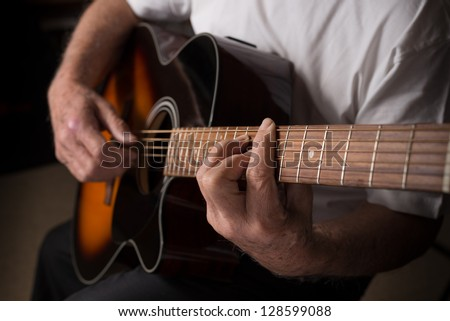 Man playing guitar Stock Photos, Images, & Pictures ...