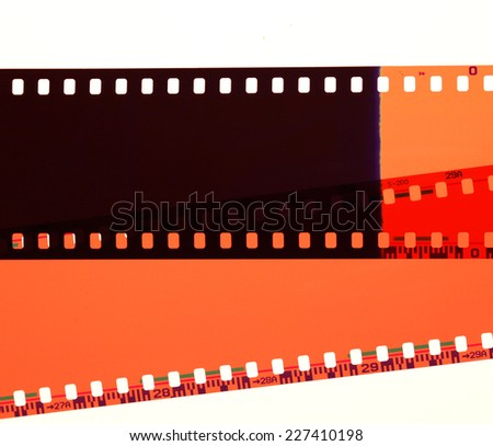 Close up of Old Negative films - stock photo