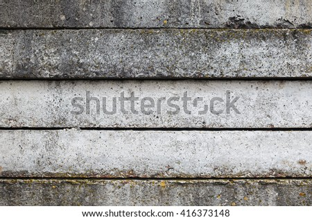 Close-up of old weathered concrete slabs. Vintage concrete background. Old concrete texture. - stock photo