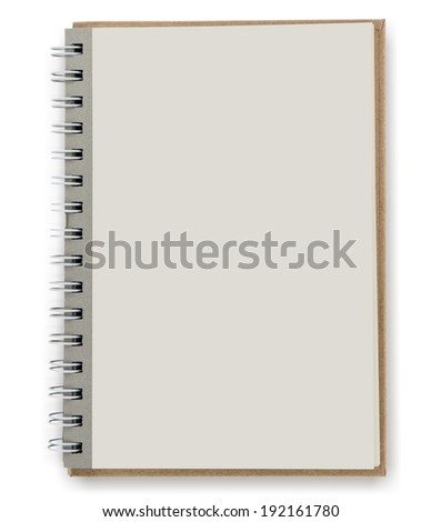 close up of open textbook with blank pages - stock photo