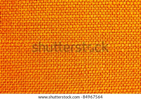close up of orange fabric texture for background - stock photo