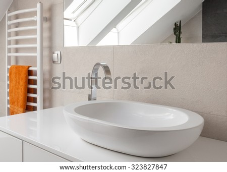 Close up of oval washbasin with new design silver tap. Washbasin Stock Images  Royalty Free Images   Vectors   Shutterstock
