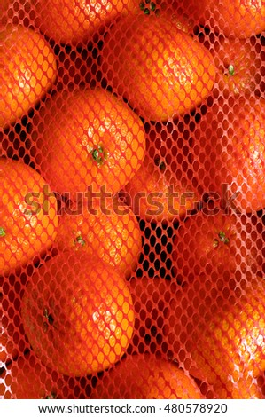Close up of Pack of Orange tangerine for background