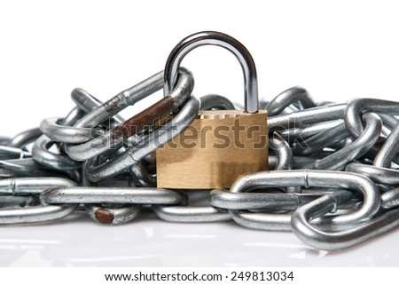 Close up of Padlock and chain