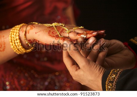 Mehndi Hands Couple : Close pakistani couples hands wedding concept stock photo royalty