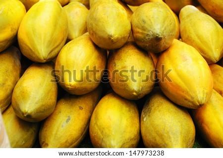 Close-up of papayas  - stock photo