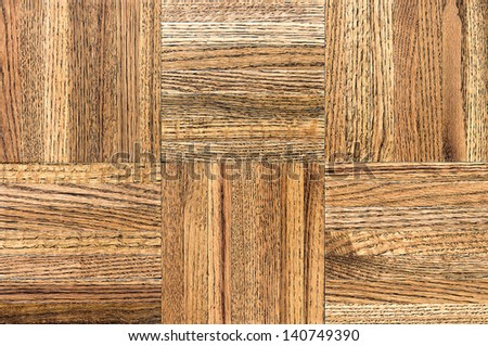 Close up of parquet wood floor tiles with copy space. - stock photo