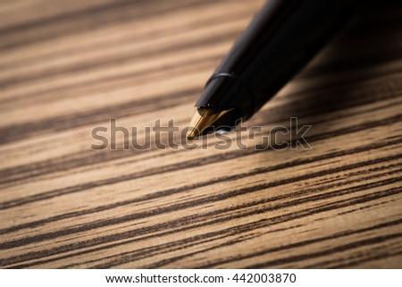 Close-up of  pen  - stock photo