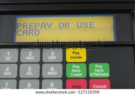 Close-up of petrol pump meter - stock photo